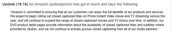 Amazon's response.