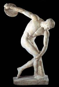 An ancient olympic statue