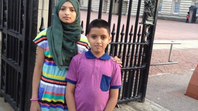 Anisa (14) and Samian (12)